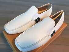 Tod's Bianco Pantofola Nuovo Scuba Gommino USA 12.5 Made in Italy