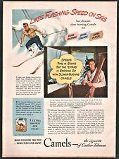 1940 CANNON MOUNTAIN Tramway Franconia NH Bob Bourdon Vt ski Champion Camel AD