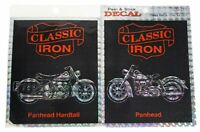 LOT Of 2 VTG 90s CLASSIC IRON Prismatic STICKERS Panhead Motorcycle Biker H-D