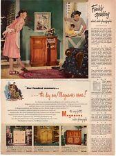 1947 ORIGINAL VINTAGE MAGNAVOX RADIO & PHONOGRAPH MAGAZINE AD