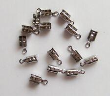 10pz coprinodo terminale in acciaio inox 10x3,5mm colore argento scuro