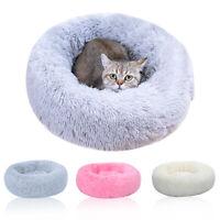 Cat/Dog Sleeping Bed Soft Plush Washable Round Shape Warm Sleeping Cushion 01