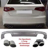 Für Audi A3 8V 12-15 S3 S-line Look Wabengrill Stoßstange Diffusor Bremsen Grill