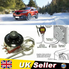 0~120℃ Car Capillary Thermostat Cooling Radiator Fan Control Switch Universal UK