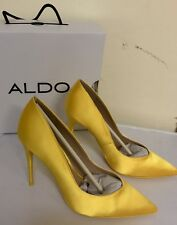 ALDO ALEANI LADIES HIGH HEEL SHOES UK SIZE 5 YELLOW NEW BOXED HEELS WOMAN PARTY