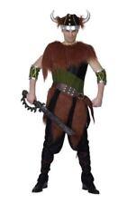 Disfraces vikingos color principal marrón de poliéster