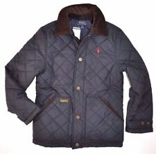 POLO RALPH LAUREN Boy  QUILTED JACKET HAGAN BARN COAT NAVY Corduroy M 10 12