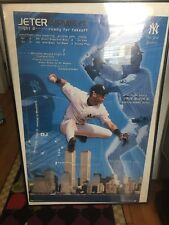 Jeter Airways Poster 34x22  Costacos Framed Very Rare 2000