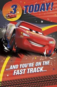 Disney Greeting Card - Cars - 3 Today!