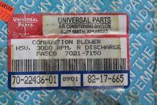 Universal Parts Rheem Rudd Furnace Draft Inducer Blower 7021-7150 70-22436-01