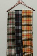 3 Vintage Burberrys Scarfs Black Grey and Beige Nova Check Lambswool Authentic