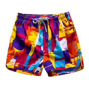Men Sports Swimwear Short Pants Couple Beach Surf Shorts Quick Dry Trunks M