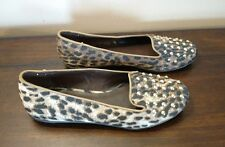 Cupcake Couture CELESTE Shoes Slipper Flats Leopard Animal Print Studs Size 2 M