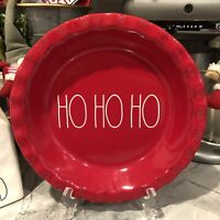 RAE DUNN Red Ho Ho Ho LL Pie Plate NEW