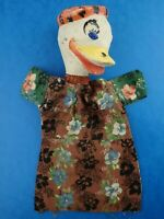 "Vintage 1950's GLOVE PUPPET Like Donald Duck Handmade? 9.5"" in Length"