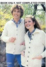 Knitting PATTERNS Mens Womens Childs ARAN Sweaters Cardigans Jackets 28-46""