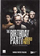 The Birthday party, Harold Pinter, Toby Jones ,Zoe Wanamaker, theatre programme