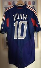 Maillot France Domicile 2004 Zidane 10 Neuf Avec Etiquette Taille M