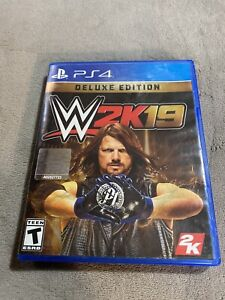 WWE 2K19 Deluxe Edition (Sony PlayStation 4, 2019) PS4 Aj Styles Wrestling