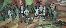Job lot of plastic Wwii Soldiers including Britains, Cherilea etc. some rarer
