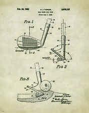 Golfing US Patent Poster Art Print Antique Golf Ball Clubs Shoes Tees Bag PAT115