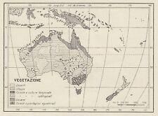 C3284 Zone di vegetazione dell'Australia - Mappa d'epoca - 1936 vintage map