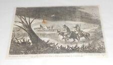 1869 magazine engraving ~ Swarm Of American Locusts The Chapulin