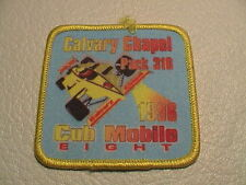 1996 BSA BOY SCOUTS OF AMERICA CALVARY CHAPEL PACK 316 CUB MOBILE 8 DERBY PATCH