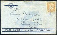 BOLIVIA TO ARGENTINA VIA CONDOR Cover Circa 1935 VF