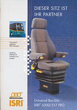 Isri 6500/517 Pro Bus-Sitz Prospekt 2002 brochure omnibus seat prospectus