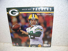 2014 Green Bay Packers 12 Month Calendar Sealed NEW!! NFL Aaron Rodgers