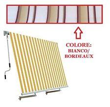 TENDA DA SOLE A CADUTA con braccetti x ringhiera 100 x h. 250 cm BIANCO BORDEAUX