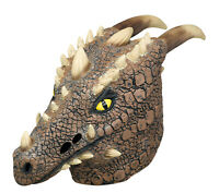 Unisex Adult Deluxe Mythical Horned Dragon Full Mask Halloween Costume Accessory