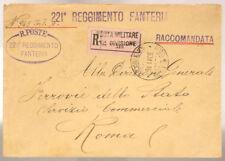 POSTA MILITARE 10^ DIVISIONE 30.11.1916 RACCOMANDATA TIMBRO 221° FANTERIA#XP257D