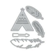 Recollections Cut And Emboss - Feathers & Arrow 7 Pcs #900