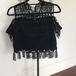 Thurley Black Top New pd $250 Off The Shoulder Straps