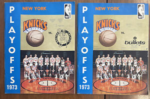 1973 New York Knicks Playoff Program Lot (2), Awesome and RARE!