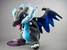 "Pokemon Mega Charizard X リザードン Lizardon Plush Pokemon 12""/30 cm Quality UK Stock"