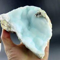 1.4lbs Blue Hemimorphite Crystal Crust Specimen-hm0473