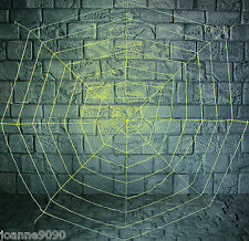Giant 1.8m Glow in the Dark GID Spiders Webbing Spider Web Cobweb Decoration New