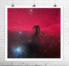 Horse Head Nebula Hubble Telescope Deep Space Image Canvas Giclee 24x24 in.