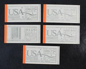 CKStamps: US Computer Vending Postage Stamps Collection Scott#6a-10a Mint NH OG