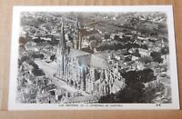 Postcard Our lady  of Chartres Cathedral  France Ariel View Real photo unposted