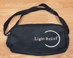 "Genuine Light Relief 11"" x 6"" (inch) Black Nylon Carrying Case Bag w/ Strap"