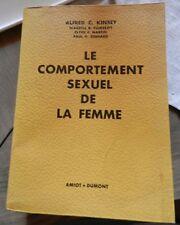 """Livre Alfred C. Kindle """" Le comportement sexuel de la femme"""" 1954"""