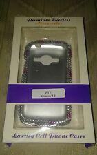 ZTE Concord 2 Rhinestone Phone Case Pink Silver Diamond Snap On