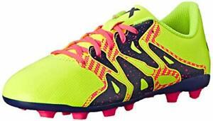 ADIDAS X 15.4 FG Girls Youth Kids Soccer Cleats Yellow Pink Purple Size 5.5