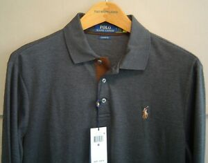 NWT $98 POLO RALPH LAUREN Mens M CLASSIC FIT SOFT TOUCH SHIRT Grey Heather