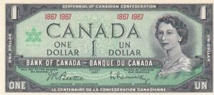 AU1967 Canada $1 Note, Pick 84a