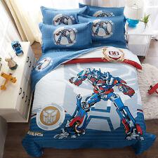 Cartoon Transformers Quilt Doona Duvet Cover Set Queen Size Bed Cover Cotton New